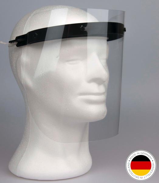 Gesichtsschutz / Visiermaske inkl. 2 Halter und 4 Visiere